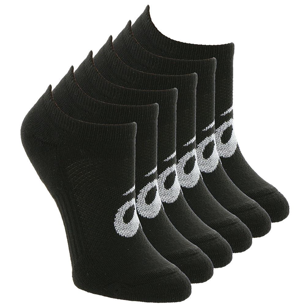 Asics Unisex 6-PackInvasion No Show Socks Black Socks M 646956BLKMED