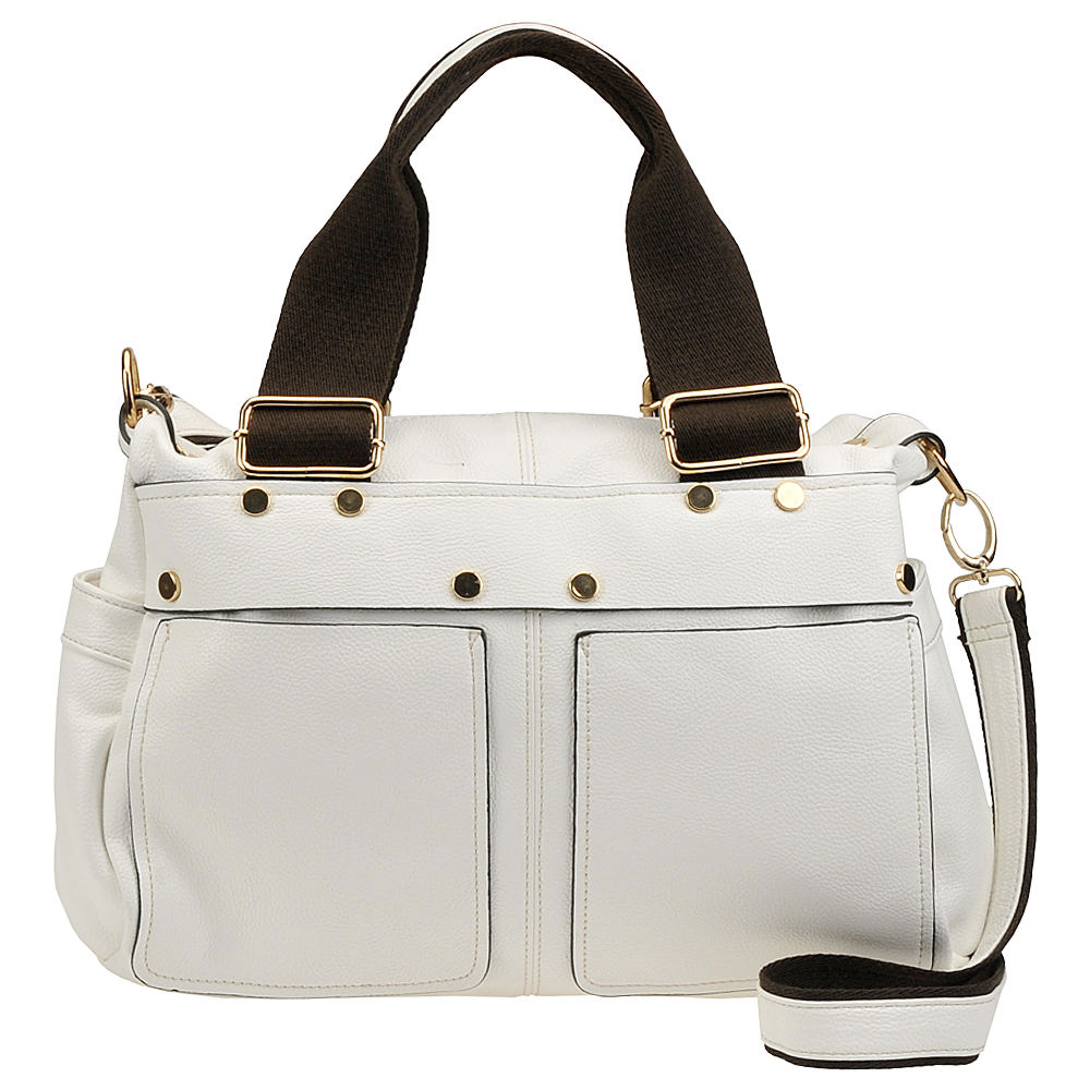 Mellow World Twins Double Handle Satchel White Bags No Size
