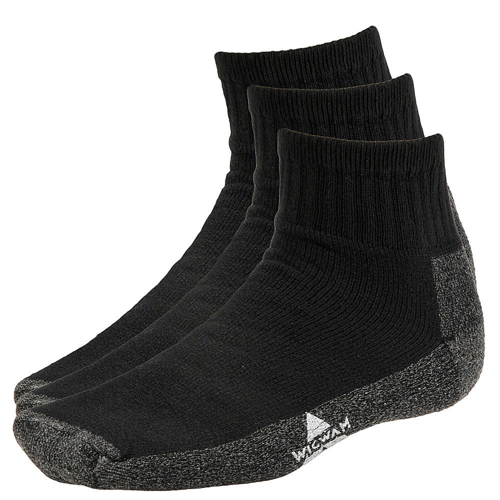 Wigwam At Work Quarter 3 Pack Quarter Socks 635863BLKMED
