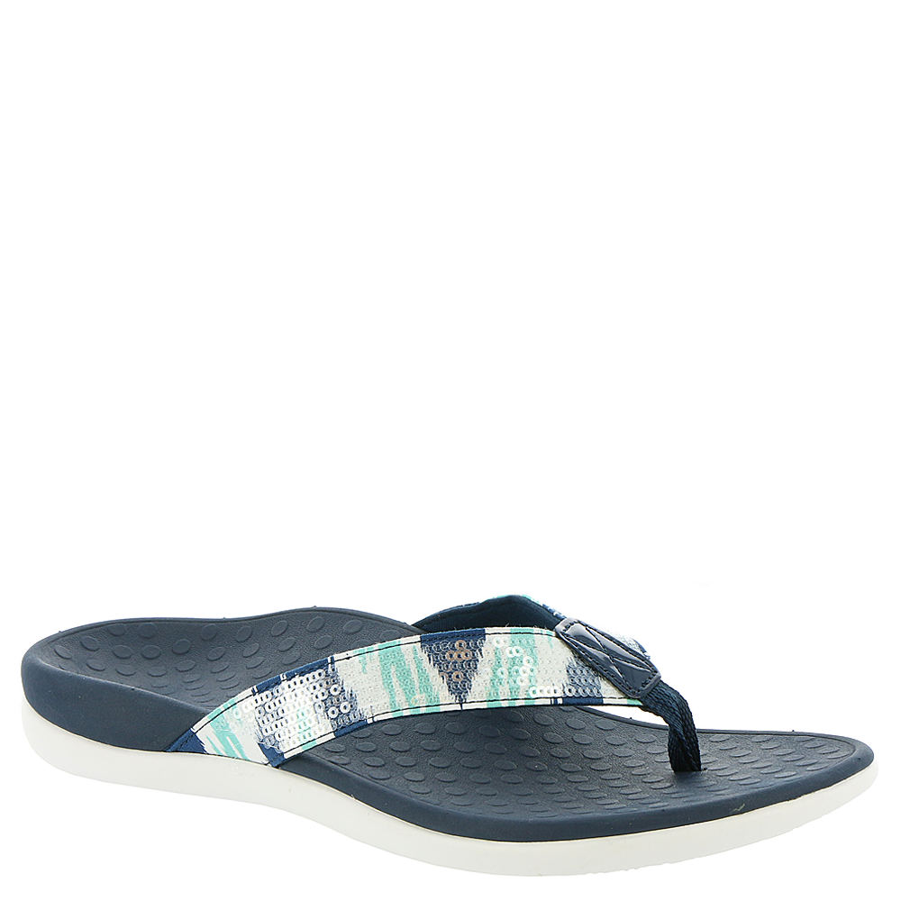 Vionic with Orthaheel Tide Sequins Women's Navy Sandal 10 M