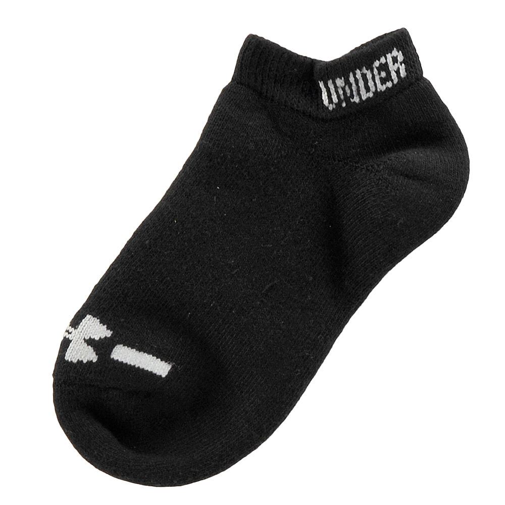 Under Armour Boys' 6-Pack Charged CottonR No Show Socks Black Socks L 812801BLKLRG