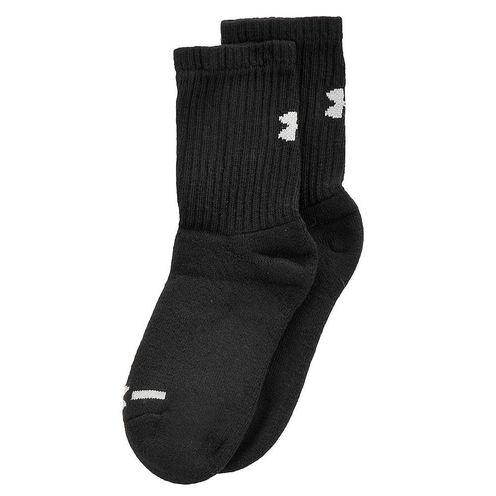 Under Armour Boys' 6-Pack Charged CottonR Crew Socks Black Socks L 812803BLKLRG