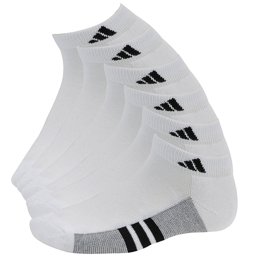 adidas Boys' Graphic 6-Pack Low Cut Socks 813195WHTMED