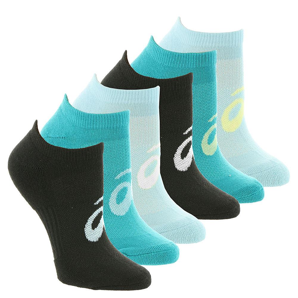 Asics Invasion No Show 6-Pack Socks Black Socks S 551464BLKSML