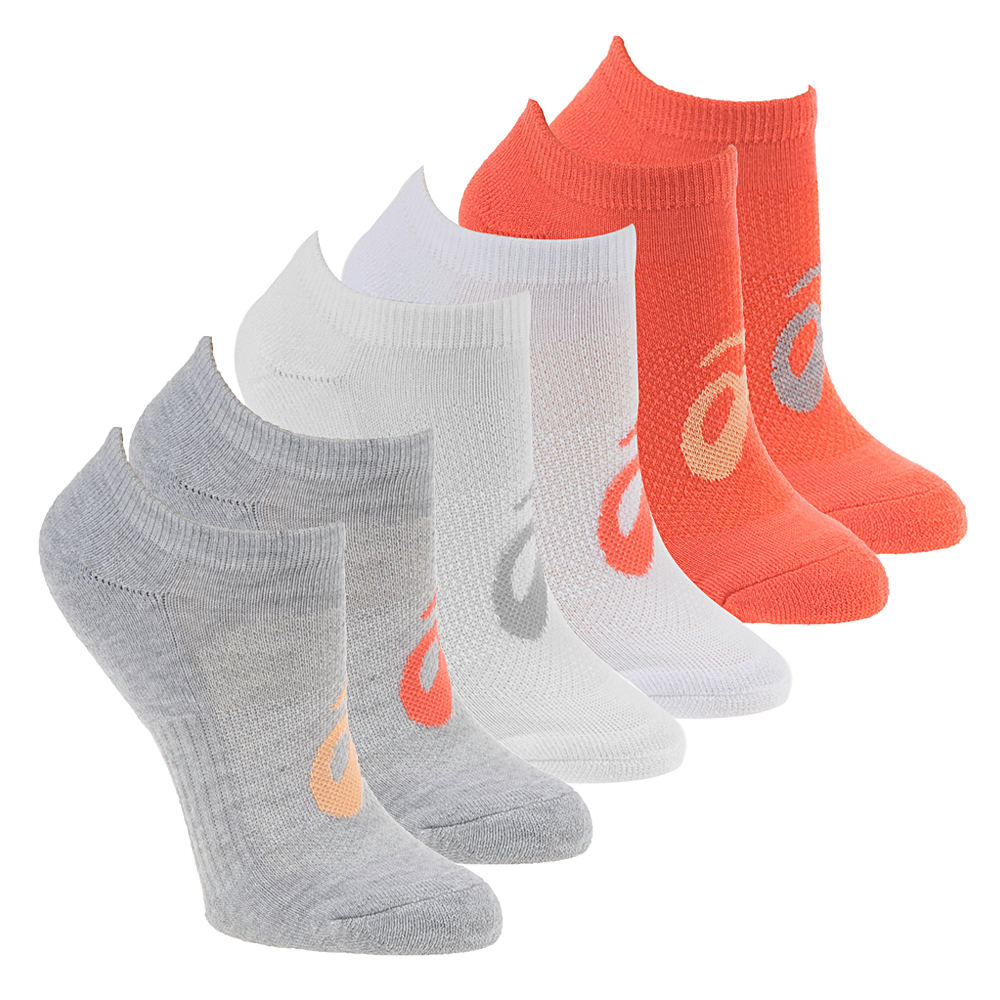 Asics Invasion No Show 6-Pack Socks White Socks S 551465WHTSML