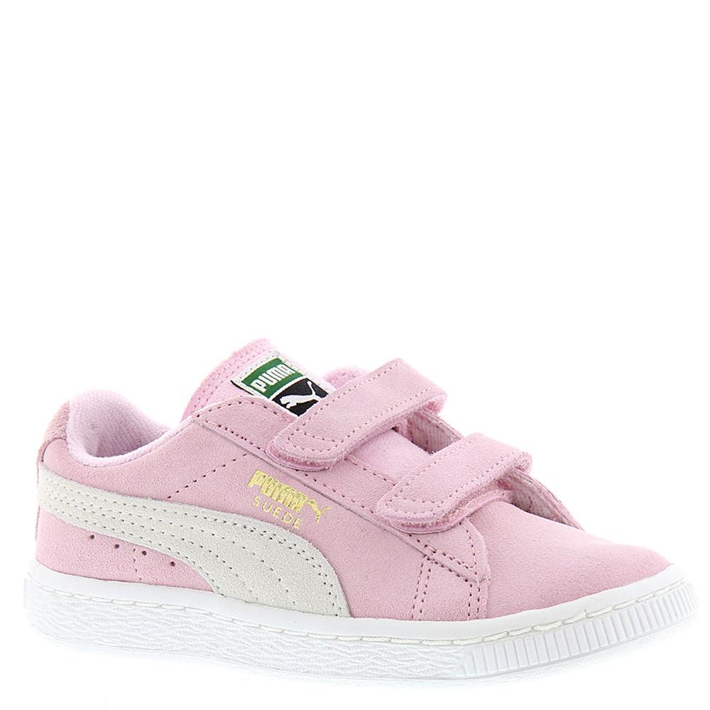 Puma Suede 2 Strap Girls' Toddler Pink Sneaker 9 Toddler M