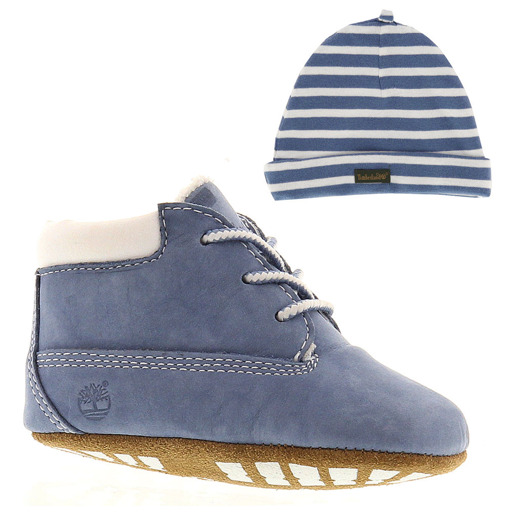Timberland Crib  with Hat Boys' Infant Blue Boot 4 Infant M