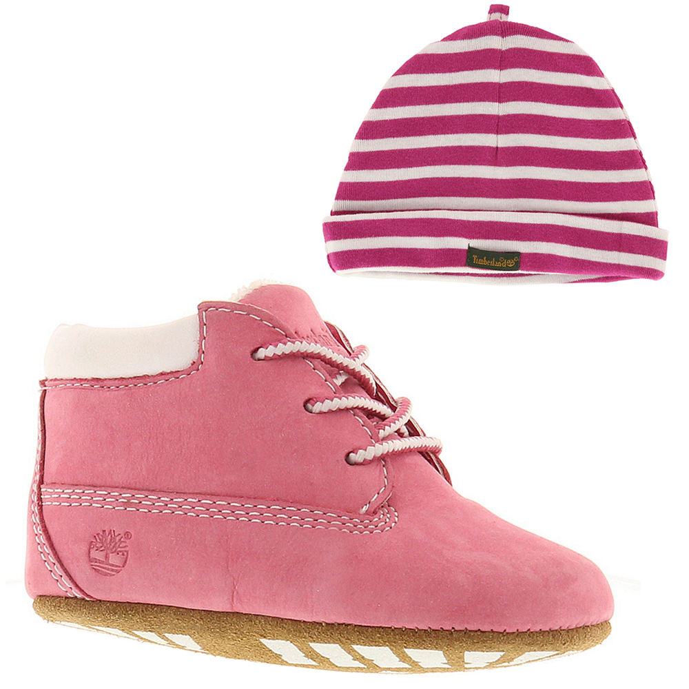 Timberland Crib  with Hat Girls' Infant Pink Boot 1 Infant M