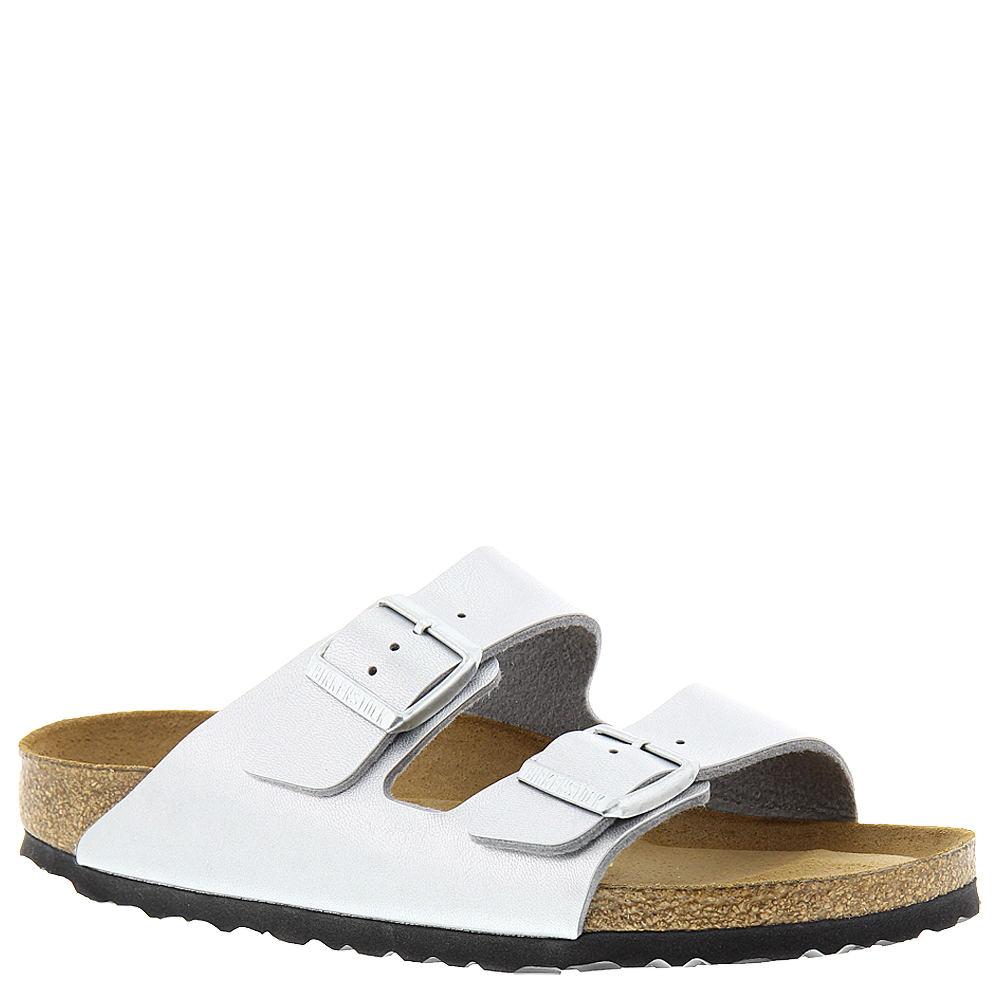 Birkenstock Arizona Soft Footbed Women's Silver Sandal Eu...