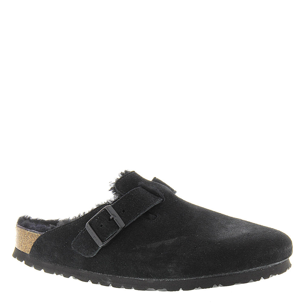 Birkenstock Boston Shearling Lined Women's Black Slip On ...