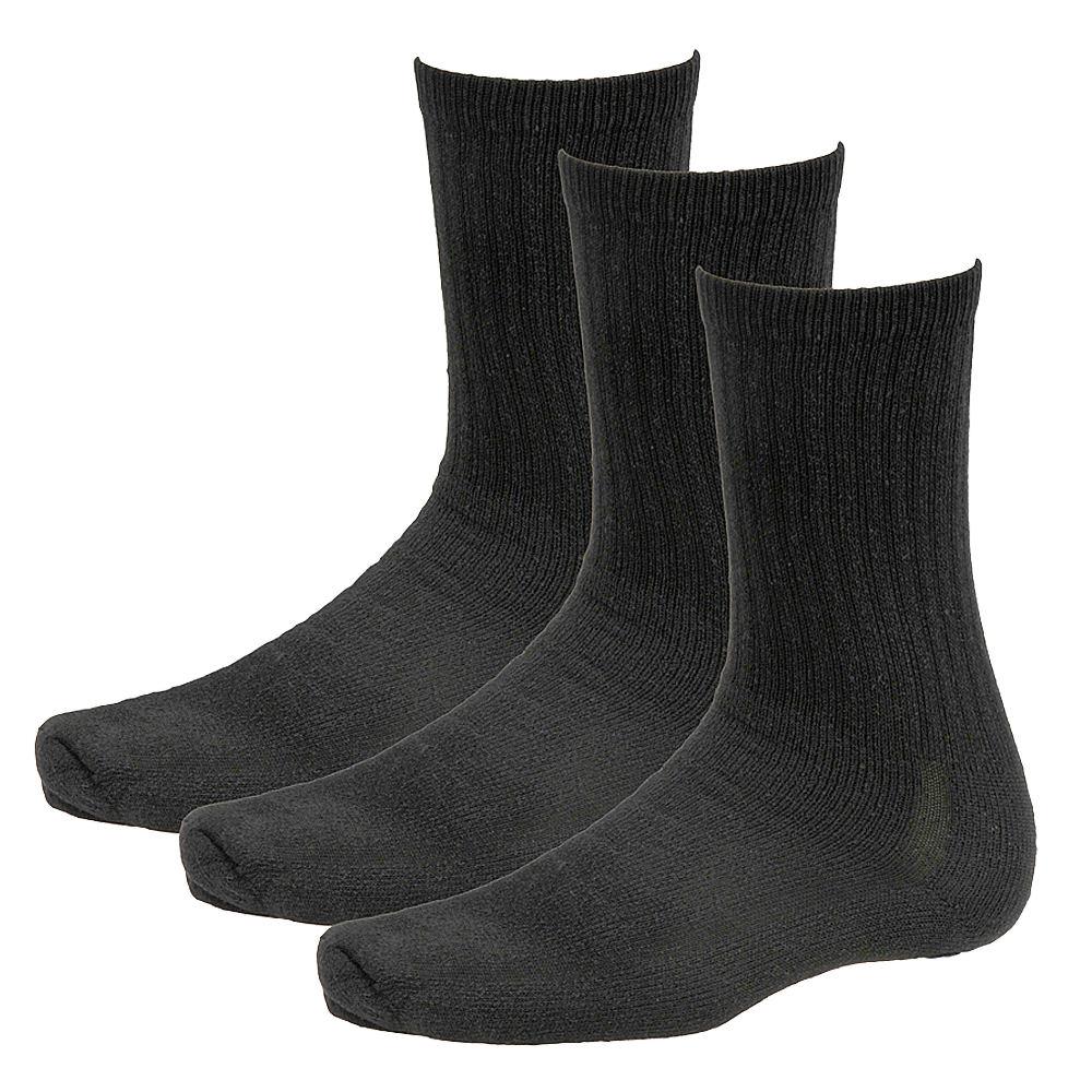 Wigwam Super 60 Crew Socks 3-Pack 636586BLKLRG