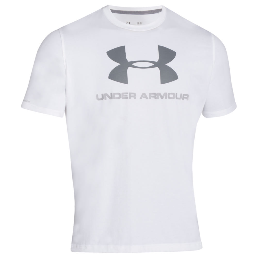 Under Armour Charged Cotton Sportstyle Logo T men's White Knit Tops XXXL 707782WHT3XL