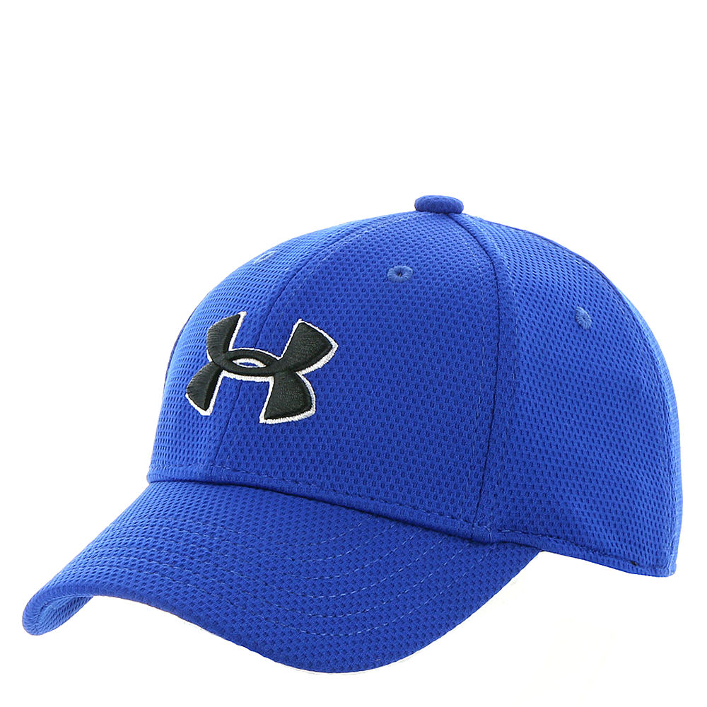 Under Armour Boys' Blitzing 2.0 Stretch Fit Cap Blue Hats S/M 818825RYLS/M