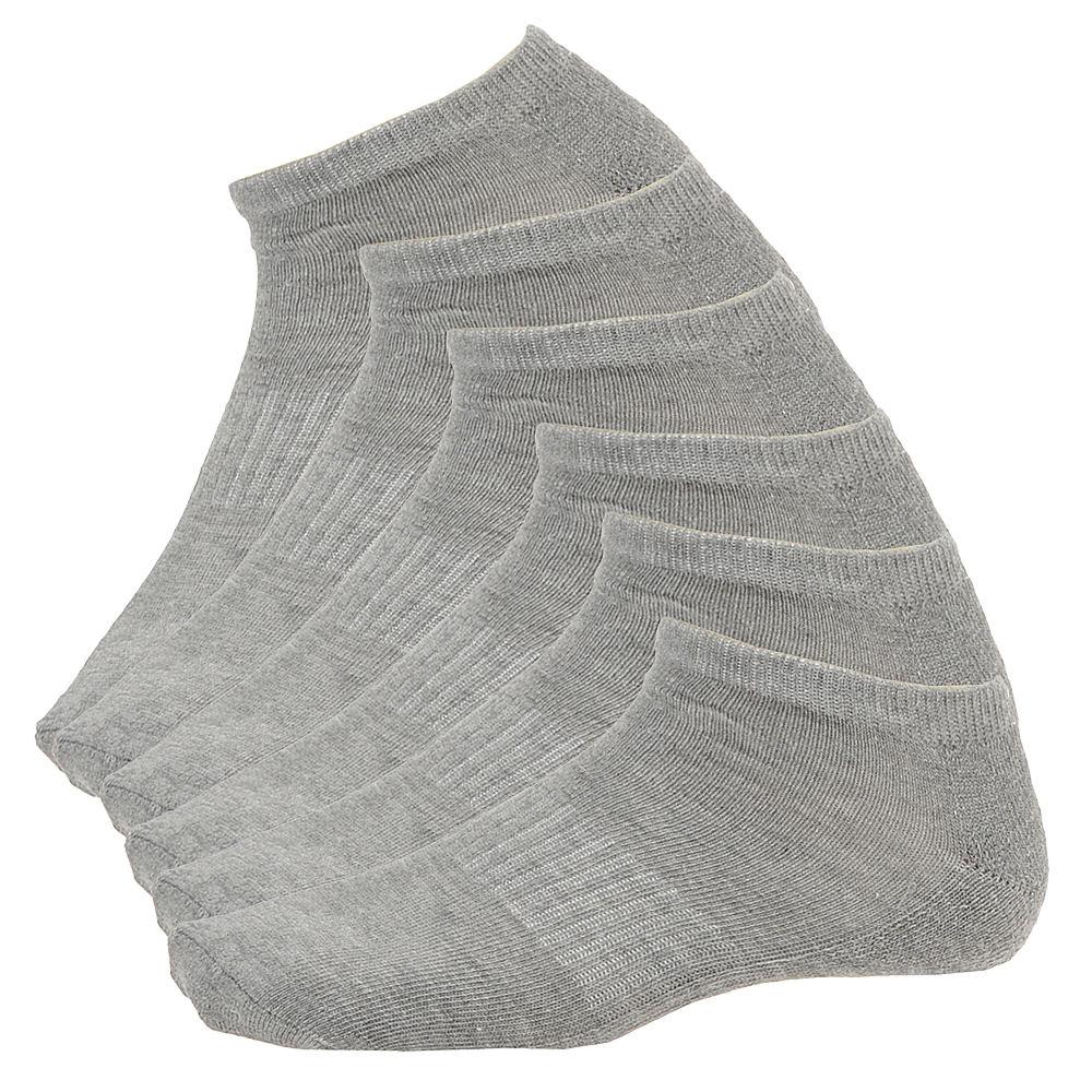 Steve Madden Women's SM29167 6-Pack Athletic Low Cut Socks Grey Socks One Size 707847HGR