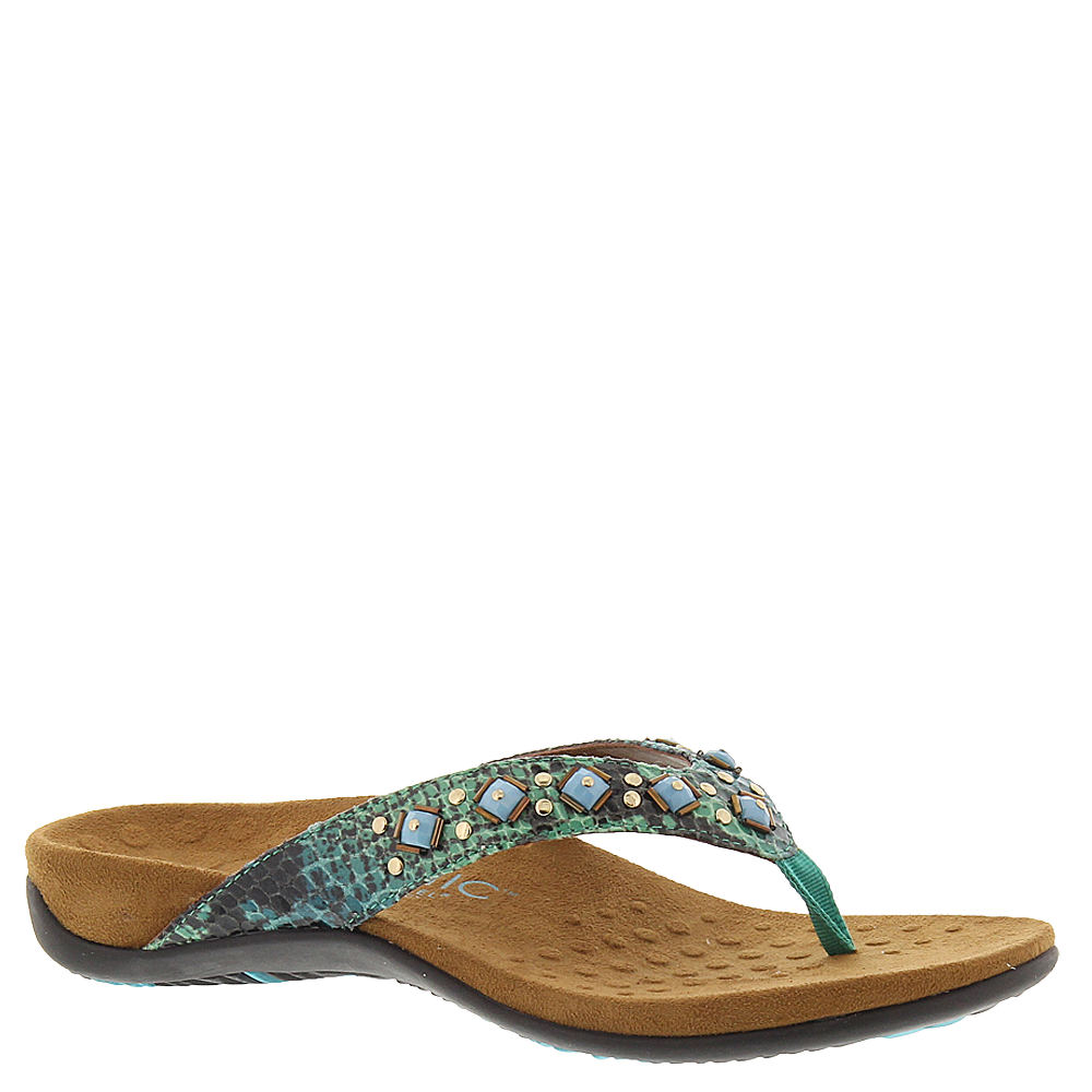Vionic with Orthaheel Floriana Women's Blue,Green Sandal 9 M