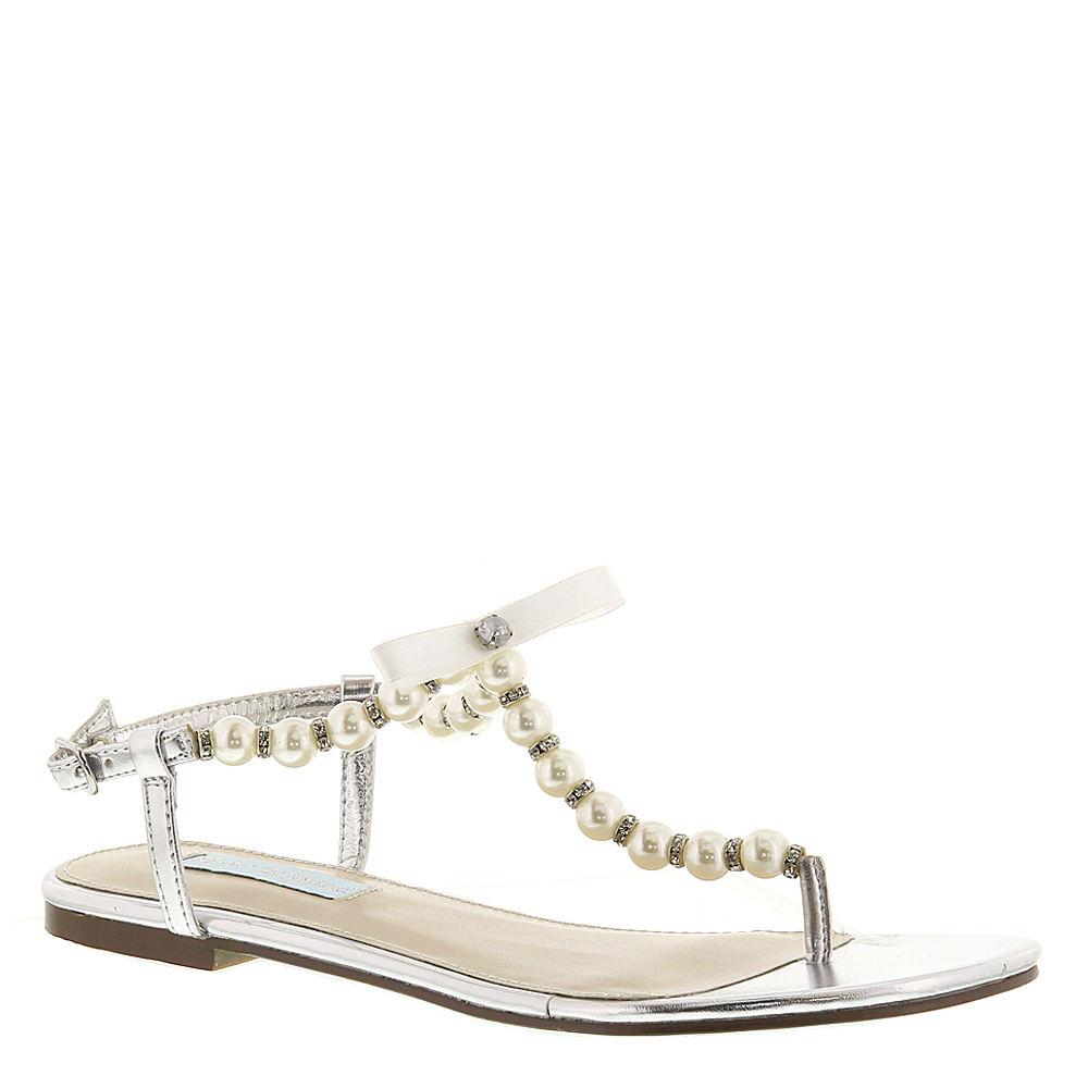 Blue by Betsey Johnson Pearl Women's Silver Sandal 7.5 M