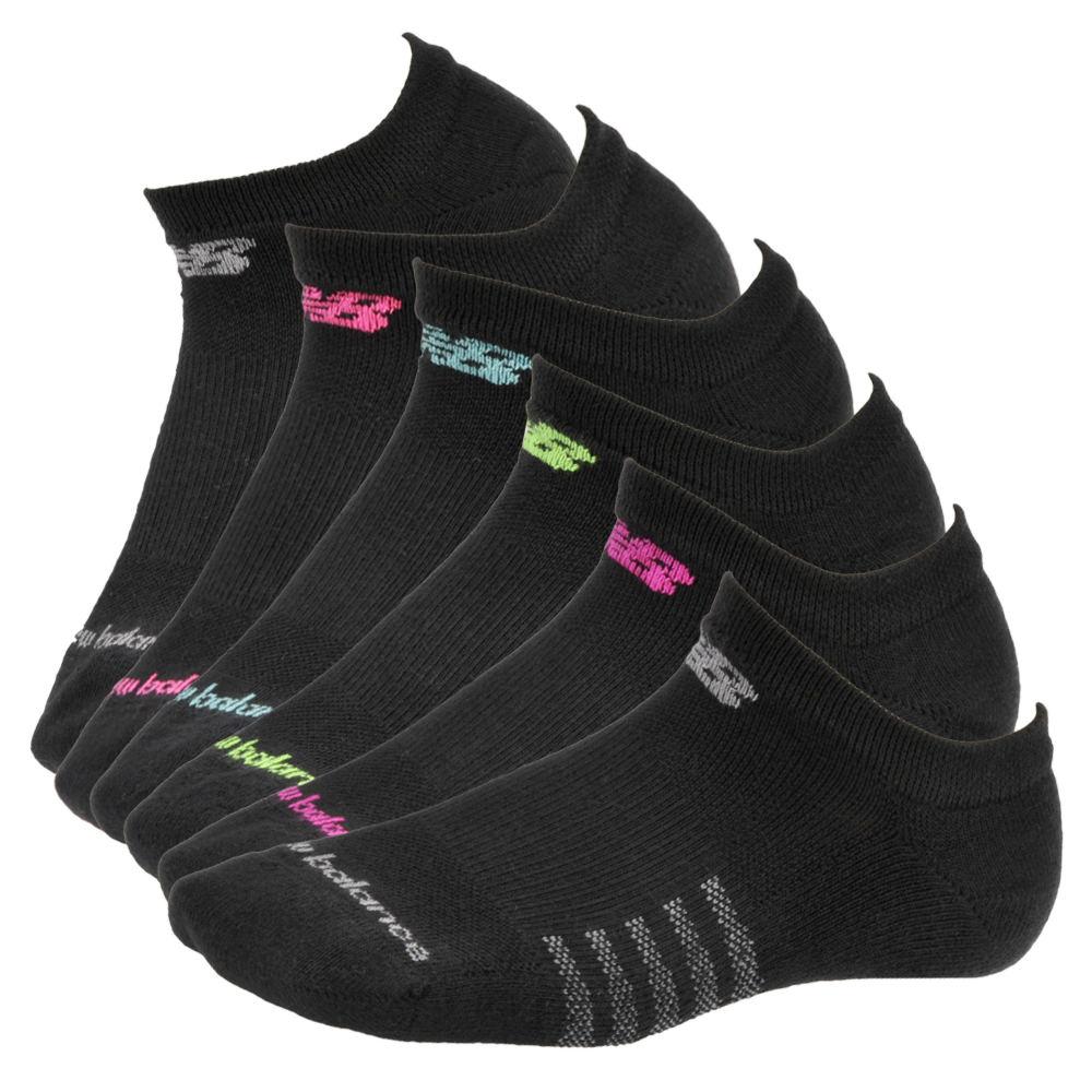 New Balance N5010-362-6 No Show Socks 6-pack women's Black Socks M 589503BLKMED