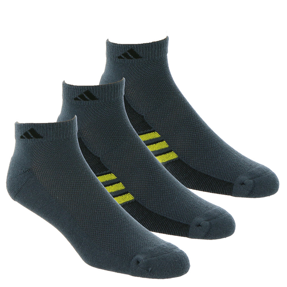 adidas Men's Climacool Superlite 3-Pack Low Cut Socks Black Socks L 649855BLKLRG