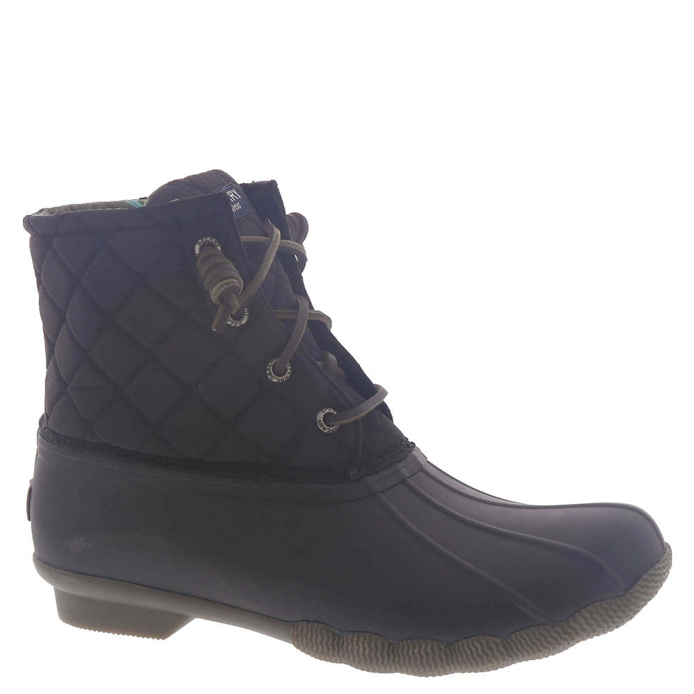 Sperry Top-Sider Saltwater Quilted Nylon Boot Women's Black Boot 11 M