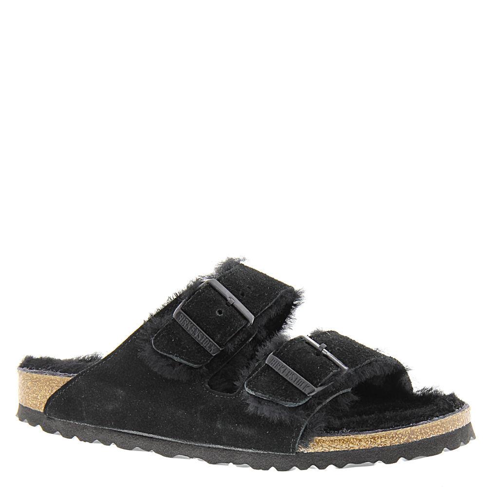 Birkenstock Arizona Shearling Lined Women's Black Sandal ...