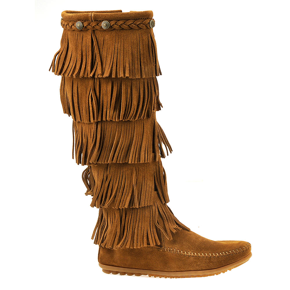 Minnetonka 5-Layer Fringe  Women's Brown Boot 8 M