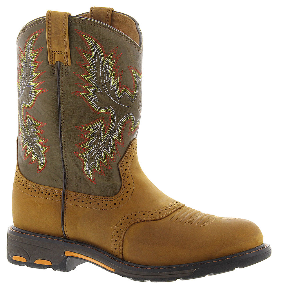 Ariat Workhog Pull On Boys' Toddler-Youth Brown Boot 12.5...