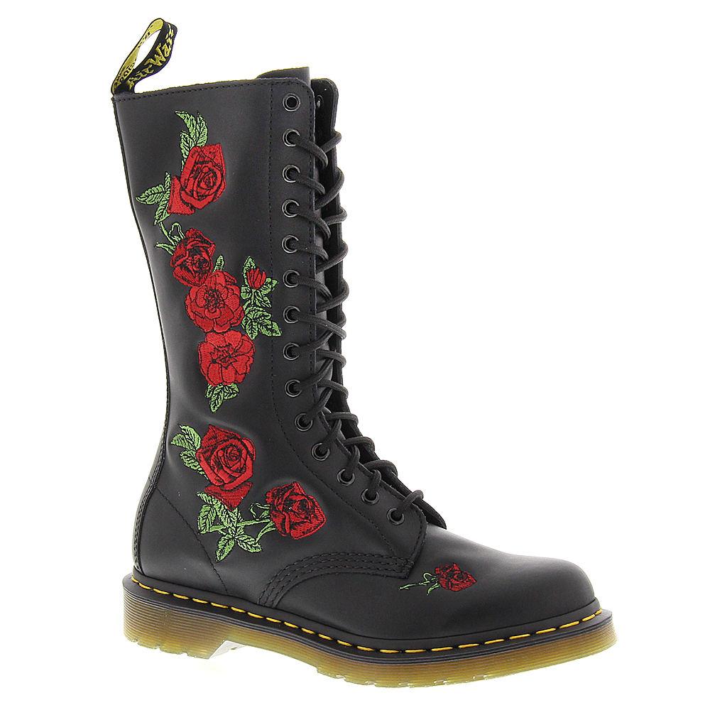 Dr Martens Vonda Embroidered 14-Eye  Women's Black Boot U...
