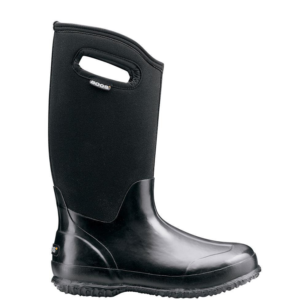 BOGS Classic High Shiny Women's Black Boot 6 M 594627BLK060M