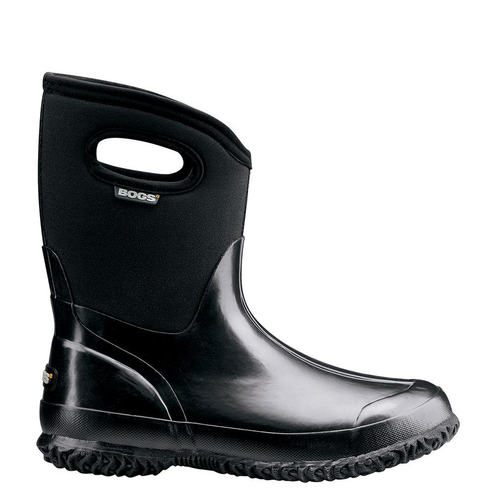 Bogs Classic Mid Shinny Women's Black Boot 11 M