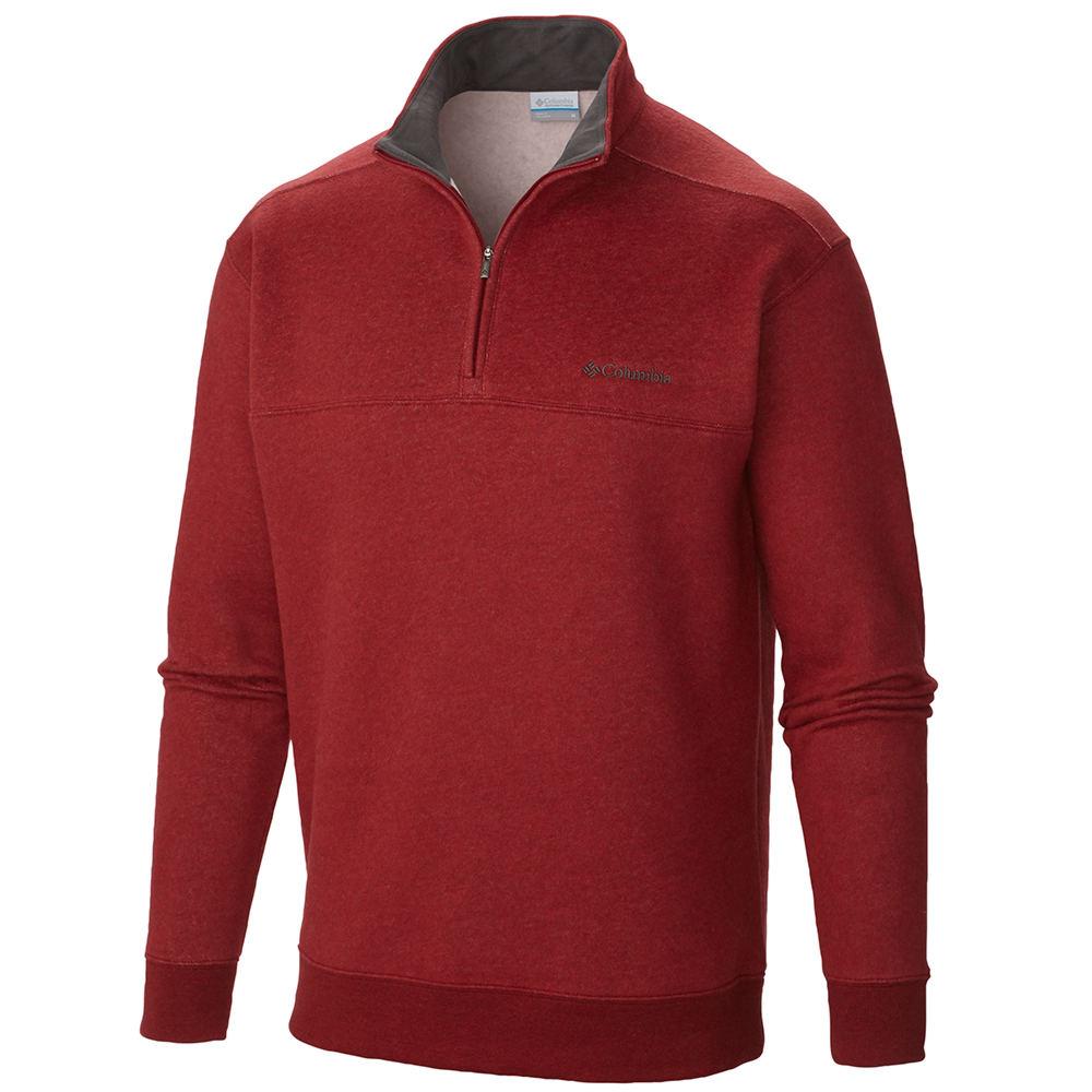 Columbia Men's Hart Mountain II Half Zip Red Knit Tops 3X