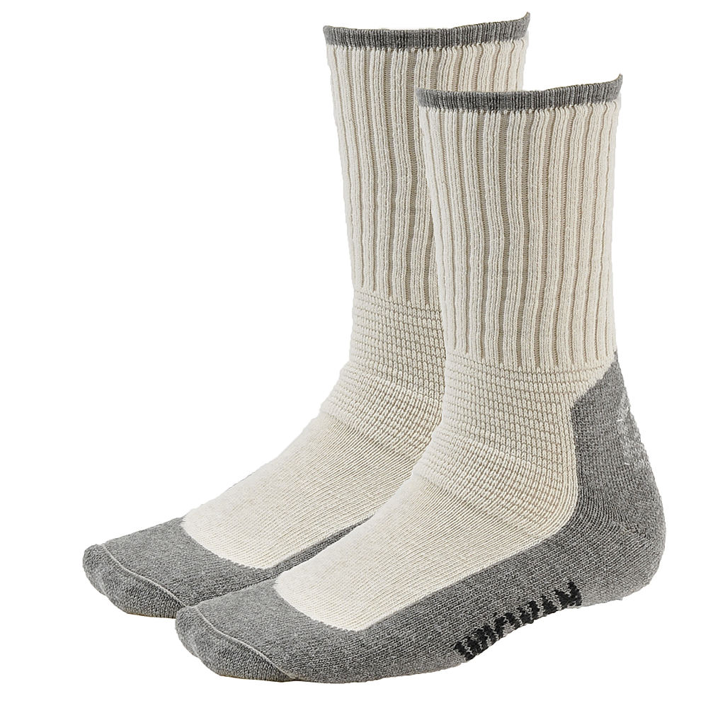 Wigwam At Work Durasole Socks 2-Pack White Socks L 640107GRYLRG