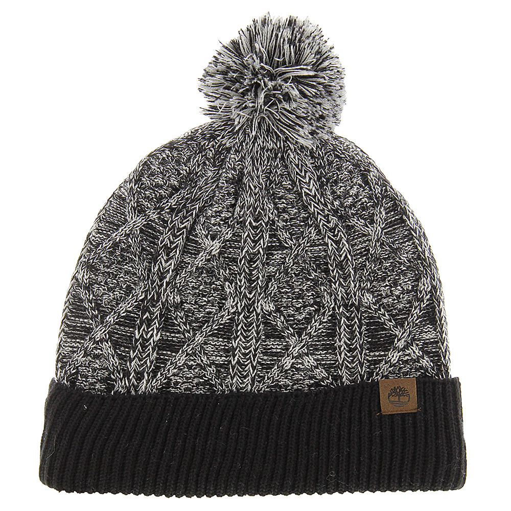 Timberland TH340200 Marled Cable Knit Pom Pom Watchcap (Men's) 640156BLK