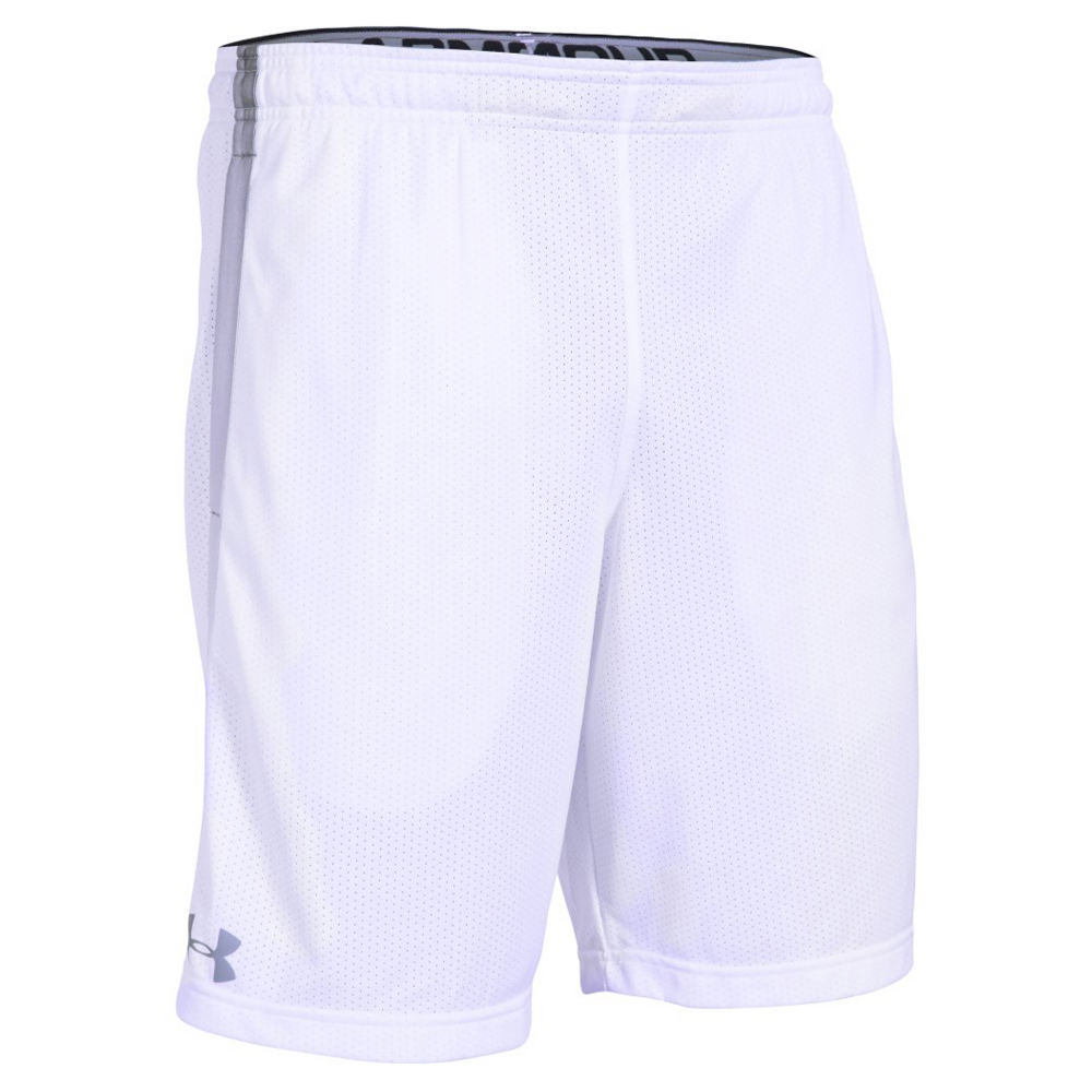 Under Armour Men's Tech Mesh Short White Shorts L 709688WHTL