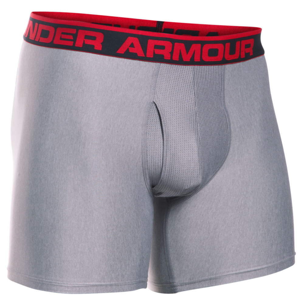 "Under Armour Men's The Original 6"" Boxerjock Grey Underwear XXL 709690HGR2XL"