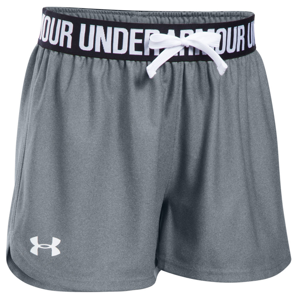 Under Armour Girls' Play Up Short Grey Shorts M 818917SLHM