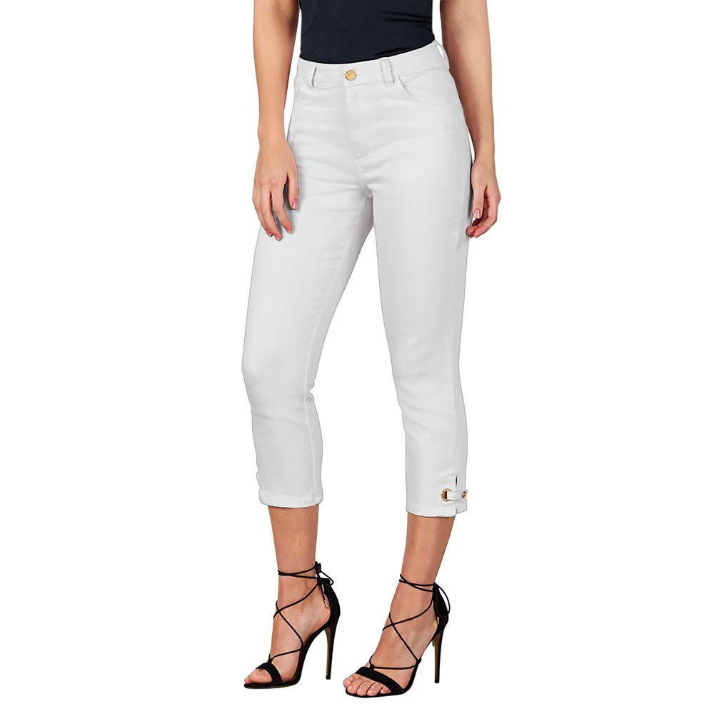 Colored Denim Capris White Pants 24W-Regular