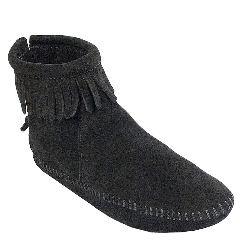 Minnetonka Back Zip  Women's Black Boot 8 M