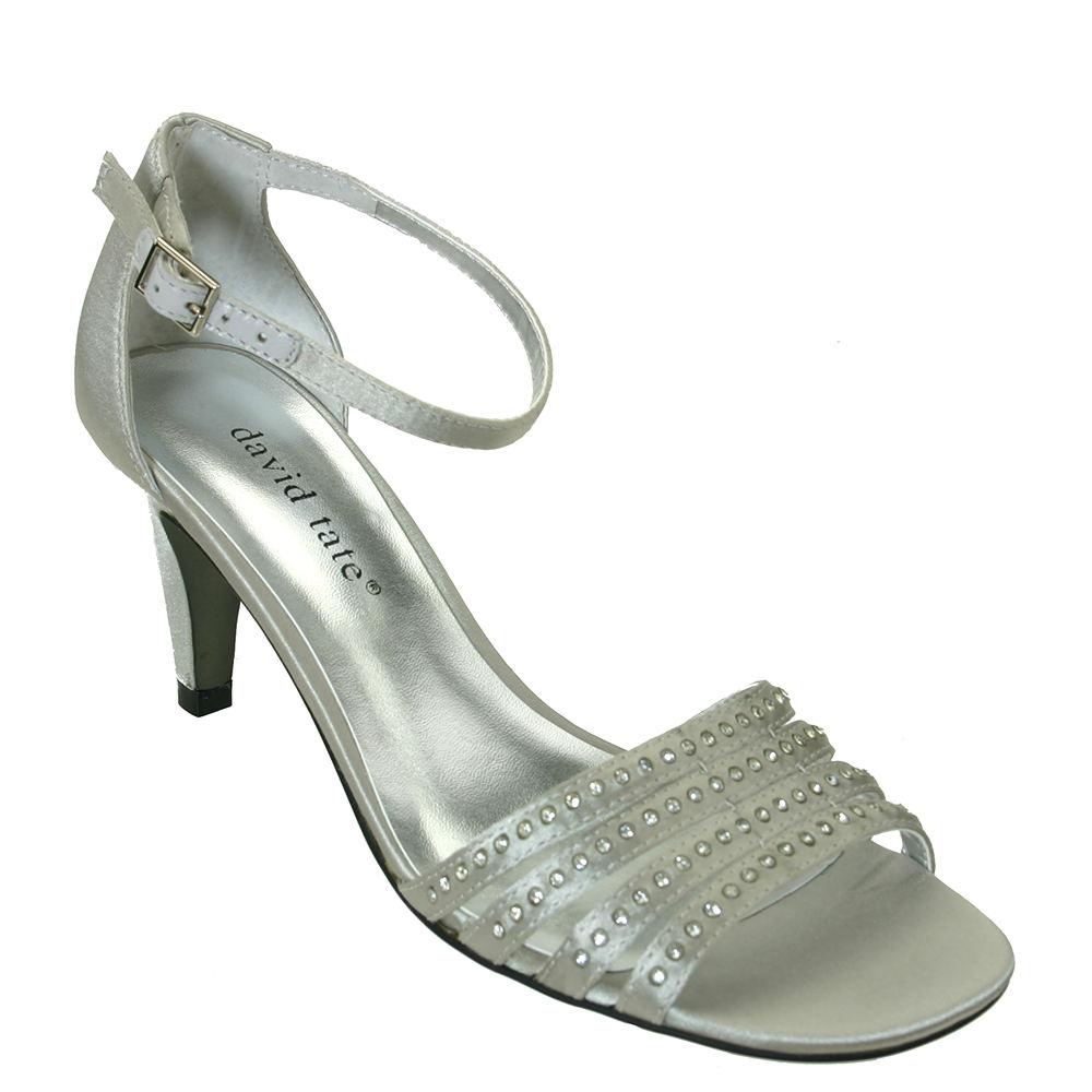 David Tate Terra Women's Silver Sandal 6.5 M