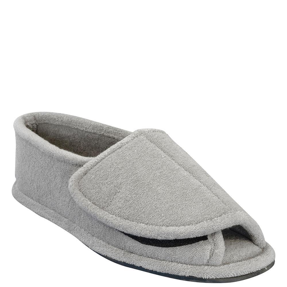 Mukluks Adjustable Open Toe Full Foot Men's Grey Slipper S M