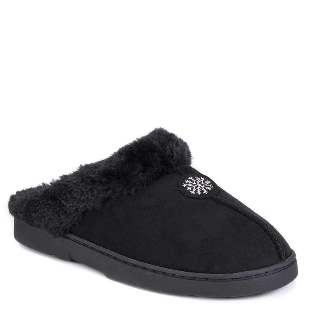 Mukluks Faux Suede Clog Women's Black Slipper L M