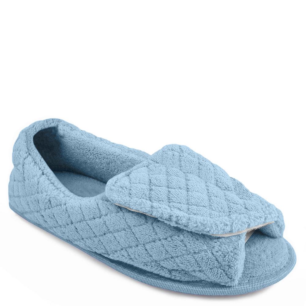 MUK LUKS Micro Chenille Adj Slipper Women's Blue Slipper L M