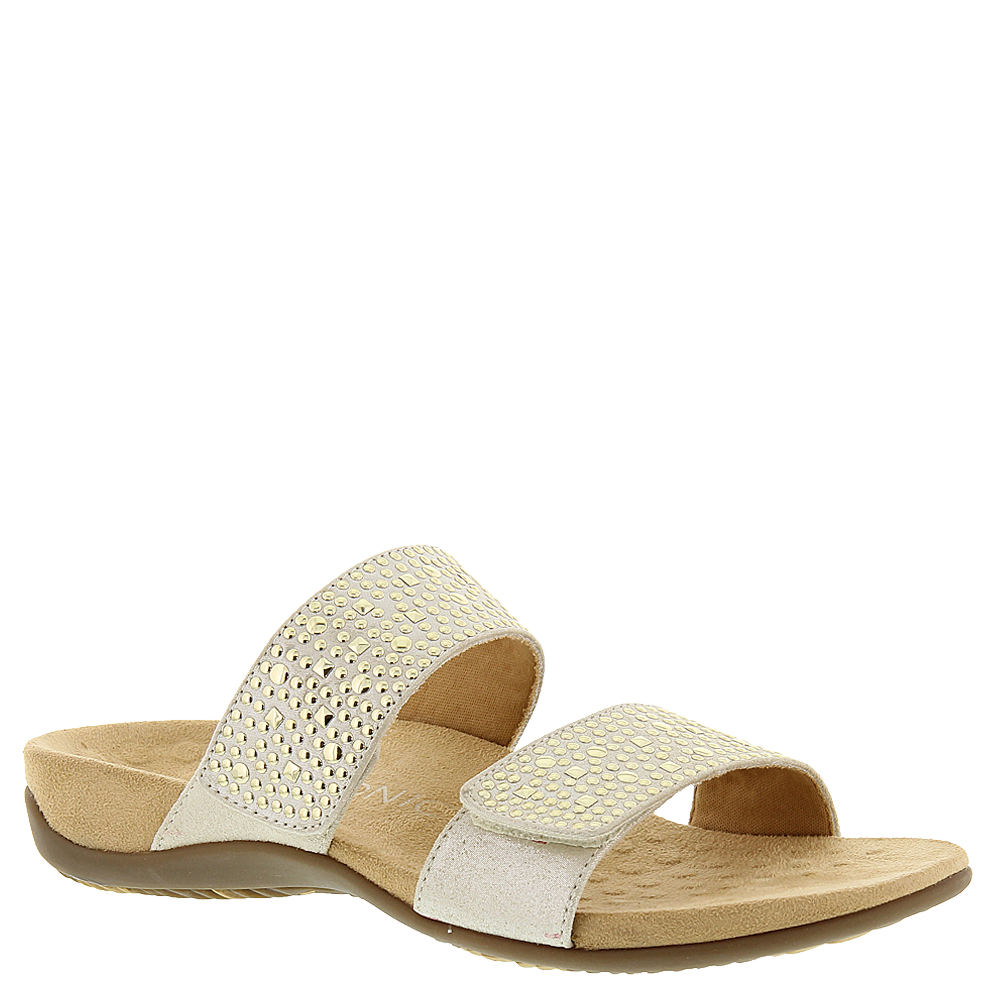 Vionic with Orthaheel Samoa Women's Gold Sandal 9 W