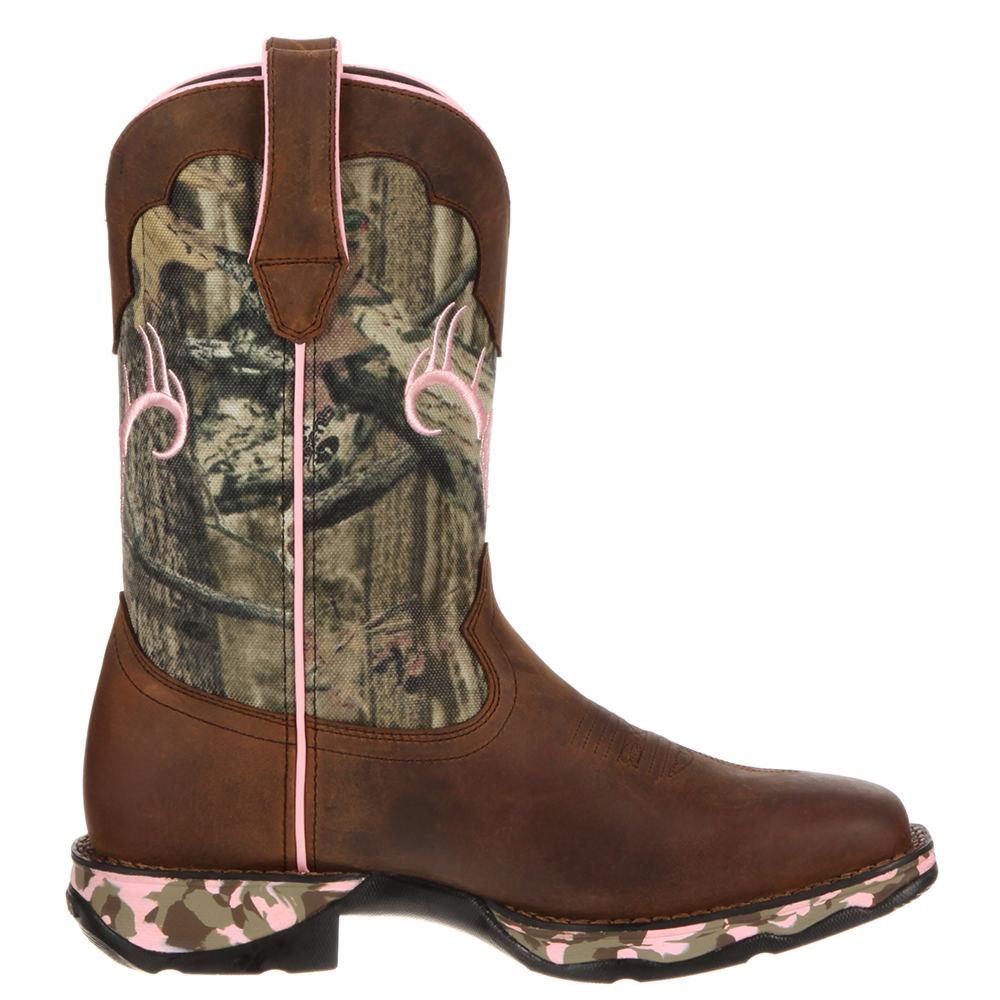 "Durango Lady Rebel 10"" Camo Women's Brown Boot 6 M"