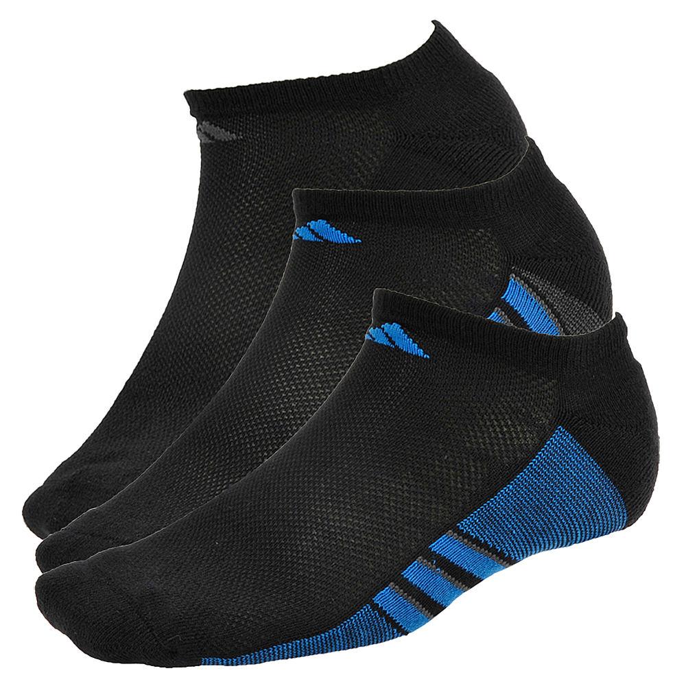 adidas Climacool Superlite 3-Pk No Show Socks Men's Black Socks L 641474BLKLRG