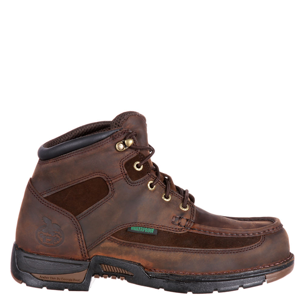 """Georgia Boot Athens 6"""" Safety Toe Men's Brown Boot 8 M"""