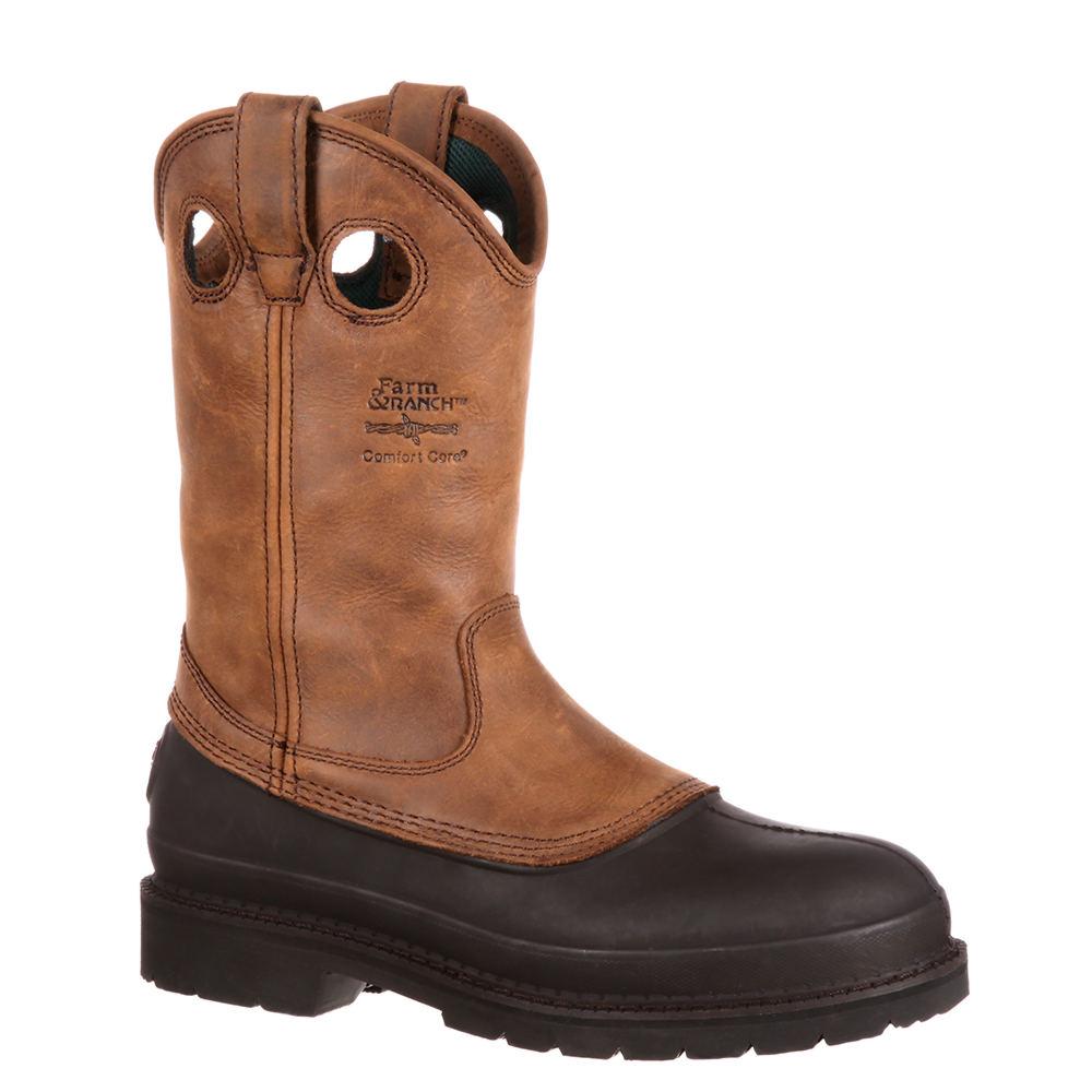 "Georgia Boot Muddog 11"" Pullon Soft Toe Men's Brown Boot ..."