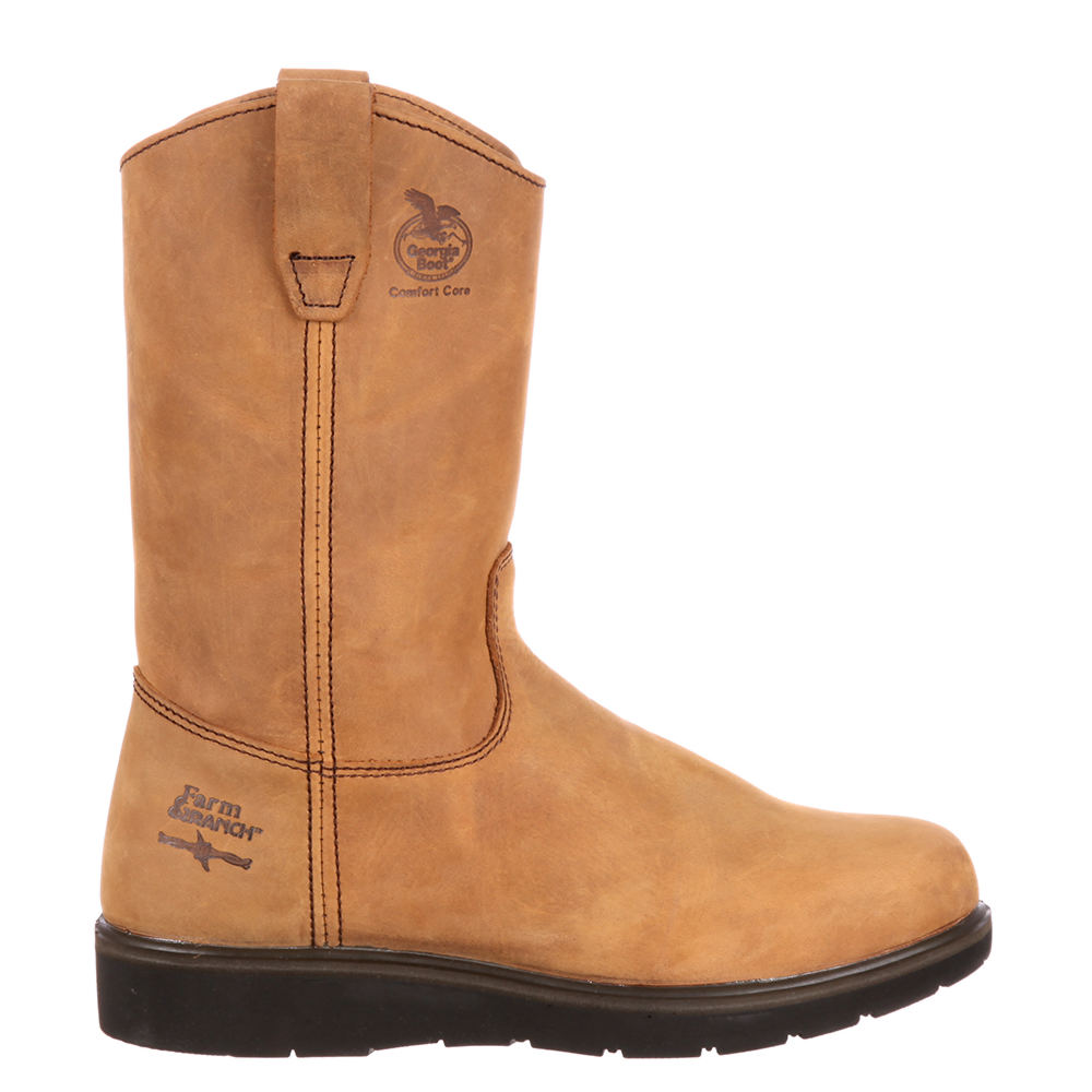 "Georgia Boot Wellington 11"" Soft Toe Men's Tan Boot 10 M"