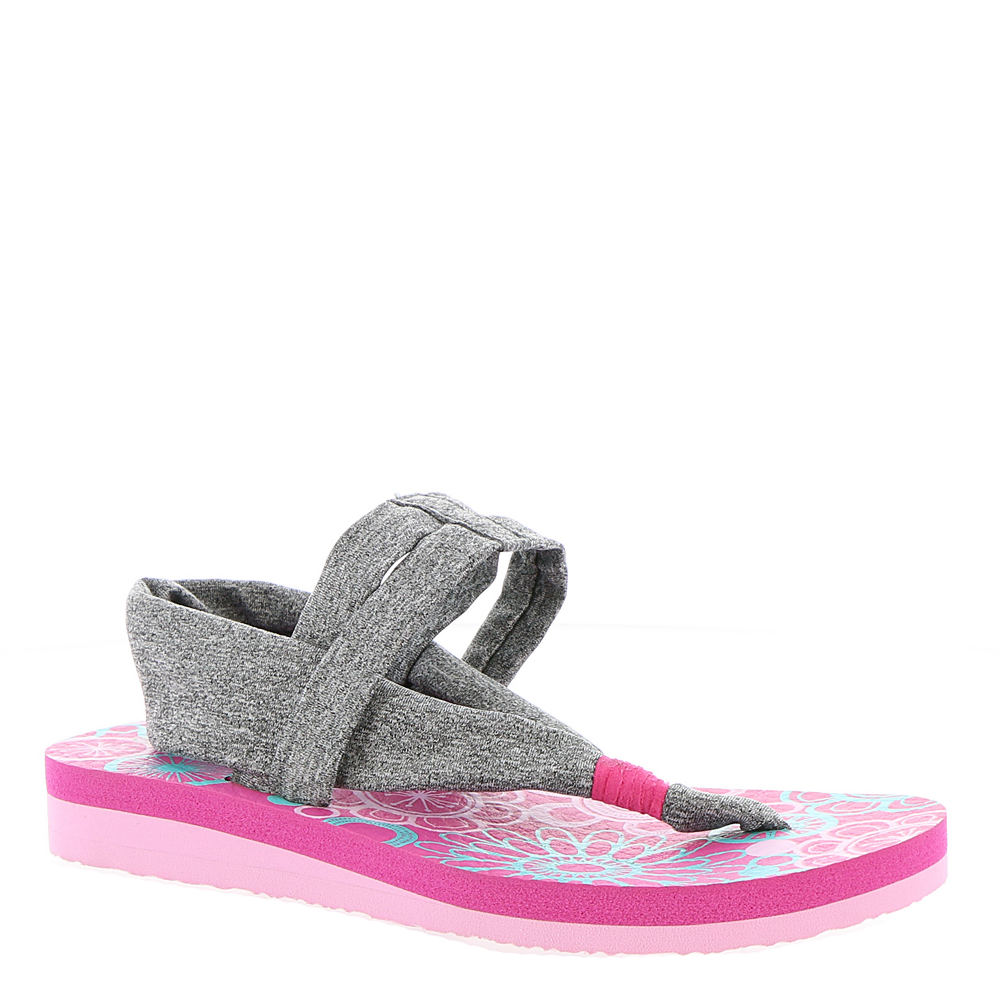 Skechers Meditation 86758L Girls' Toddler-Youth Grey Sandal 5 Youth M 819848GRY050M