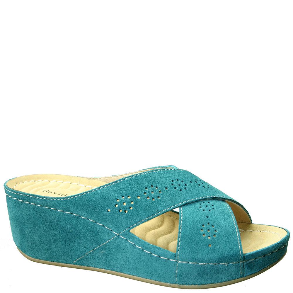 David Tate Savannah Women's Blue Slip On 10 M