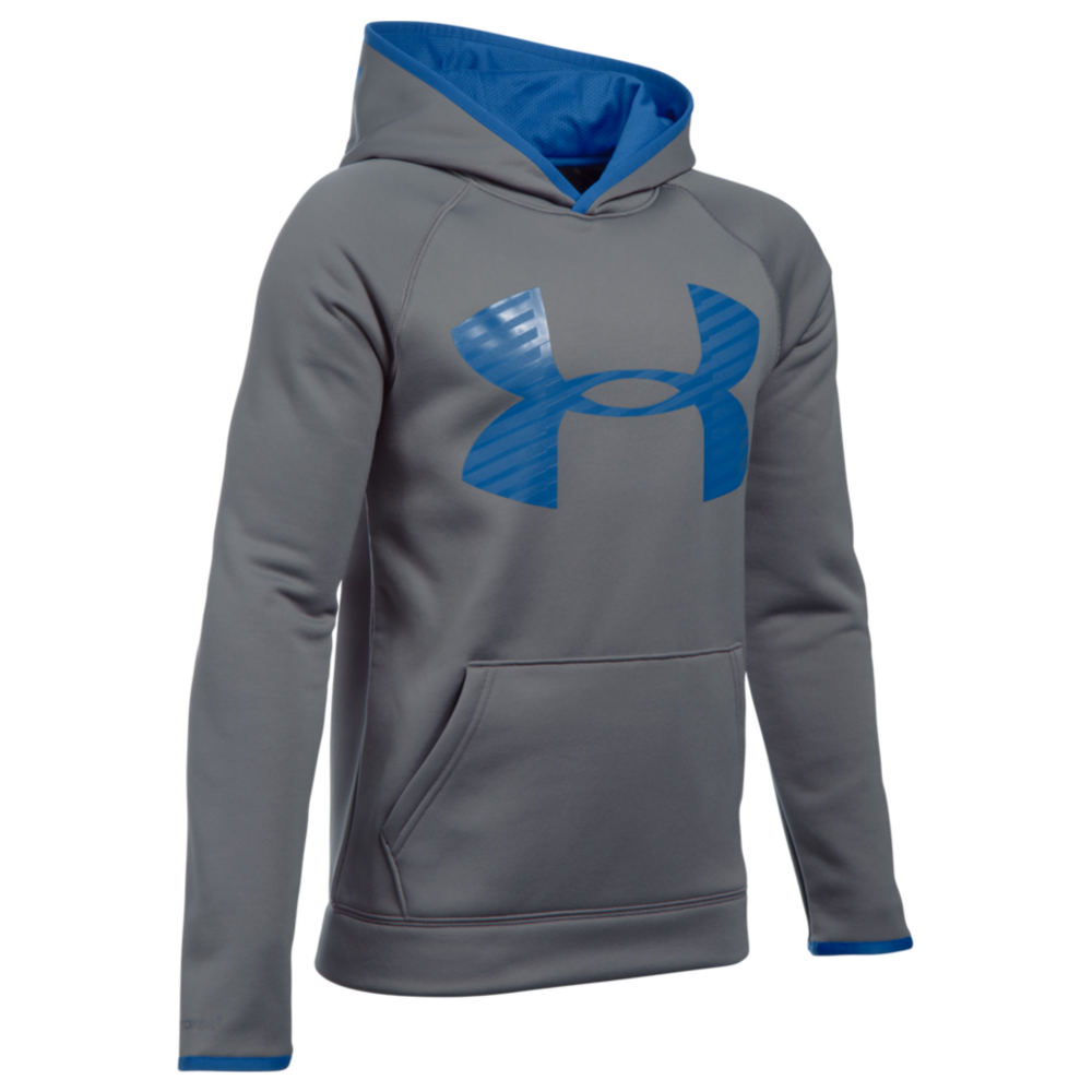 Under Armour Boys' Highlight Hoodie Grey Knit Tops XS 820496GRAXS